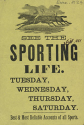 Advert For 'Sporting Life', Periodical